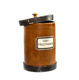Old antique pharmacy container Royalty Free Stock Photos