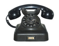 Old antique phone, isolated. Old antique phone on white, isolated Royalty Free Stock Images