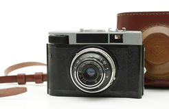 Old antique photo camera Stock Images