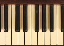 An old antique piano background Royalty Free Stock Images