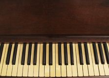 An old antique piano background royalty free stock photos