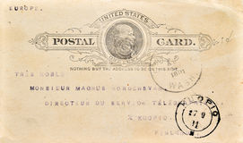 Old antique postcard from USA Royalty Free Stock Photography