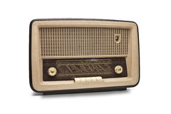 Old antique radio stock image