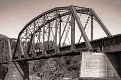 Old Antique Railroad Steel Truss Span Bridge Royalty Free Stock Photo