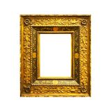 Old antique rectangular frame isolated Stock Images
