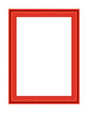 Old antique red frame Stock Photo