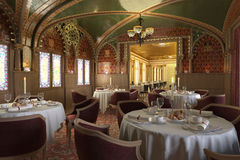 Old Antique Restaurant Interior, With Decorations. Royalty Free Stock Photography