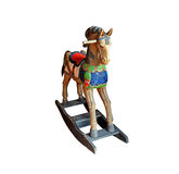 Old antique rocking horse Royalty Free Stock Images