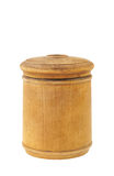 Old antique round food box isolated Stock Photos