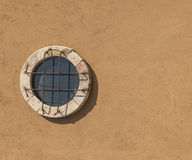 Old antique round window Royalty Free Stock Photo