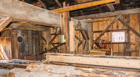 Old and Antique Sawmill in Function stock image