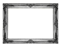 Old antique silver frame Royalty Free Stock Image