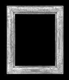 The Old antique silver frame on  black Royalty Free Stock Photo