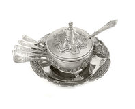 Old antique silverware Stock Photography