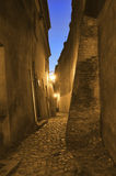 Old, antique street at night. Stock Photography