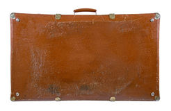Old antique suitcase. Isolated on white Stock Image