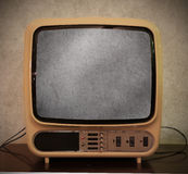 Old antique television stock photo