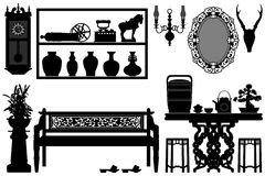 Old Antique Traditional Furniture vector illustration