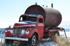 Old Antique Truck With Watering Barrel Royalty Free Stock Photos