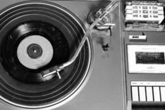 Old and retro turntable player royalty free stock photos