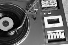 Old and retro turntable player royalty free stock photography