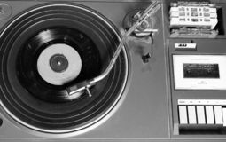 Old and retro turntable player royalty free stock photo