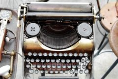 Old Antique Typewriter Stock Photo