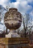 Old antique vase in the park. Decoration of the Ruin bridge. Park Alexandria. Peterhof. Saint Petersburg. Russia Royalty Free Stock Photos