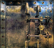 Old Antique Vintage Bank Vault. Old Bank Vault in Basement of Historic Building Stock Photo