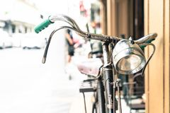 Old antique vintage bicycle - vintage effect style pictures Royalty Free Stock Image