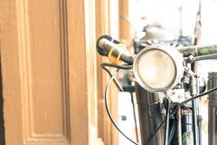 Old antique vintage bicycle - vintage effect style pictures Stock Photography