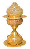 Old antique vintage brass vase Royalty Free Stock Photos
