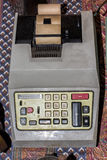 Old antique vintage crank calculator Royalty Free Stock Photo