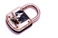 Old Antique Vintage Padlock. On a White Background royalty free stock photos