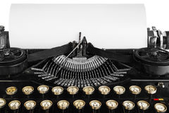 Old antique vintage portable typewriter, close-up of the mechani Royalty Free Stock Images