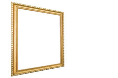 Old antique vintage rusty golden picture frame  Royalty Free Stock Photos