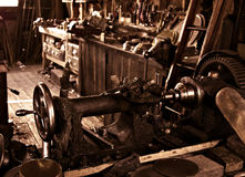 Old antique vintage workshop  Royalty Free Stock Image