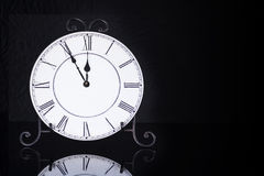 Old antique wall clock isolated Royalty Free Stock Photos