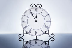 Old antique wall clock isolated Royalty Free Stock Images