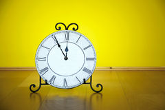 Old antique wall clock isolated Royalty Free Stock Image
