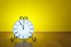 Old antique wall clock isolated Stock Photography