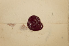 Old antique wax stamp. Stock Image