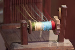 Old antique weaving machine detail Royalty Free Stock Photo