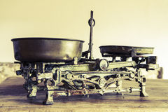Old Antique weight measuring and kitchen goods weighing Stock Photography