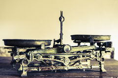 Old Antique weight measuring Royalty Free Stock Photo