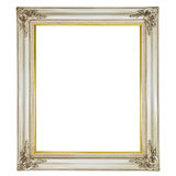 Old antique white frame Royalty Free Stock Photography