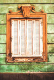 Old Antique Window Retro Toned Stock Image