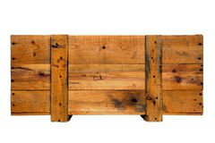 Old Antique Wood Crate Goods Shipping Box Isolated Royalty Free Stock Photo