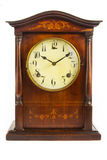 Old antique wooden clock on white Stock Images