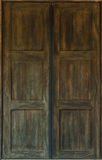 Old antique wooden door Stock Images